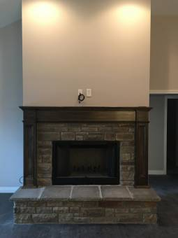 Fireplace and Custom Mantle