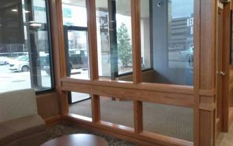 Wood Framed Windows in Entrance